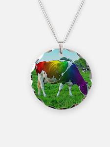 rainbow-cow_13-5x13-5 Necklace