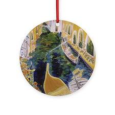 Gondolier of Venice Round Ornament