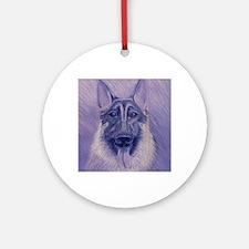 Ivan German Shepherd Dog Round Ornament