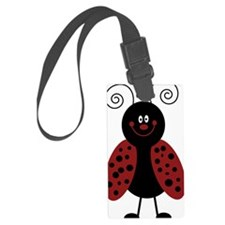Love Bug Cartoon Ladybug Luggage Tag