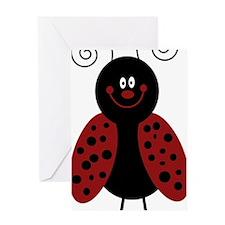 Love Bug Cartoon Ladybug Greeting Card