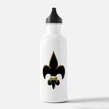 Fleur De Lis Black and Water Bottle
