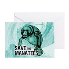 shoulderManateeSave Greeting Card