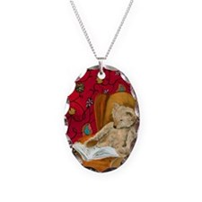 readingbear.kindle2 Necklace Oval Charm
