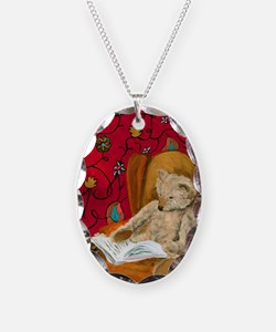 readingbear.kindle2 Necklace Oval Charm