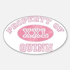 Property-of-Quinn Sticker (Oval)