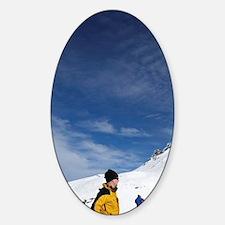Treble Cone Ski Area, near Wanaka,  Sticker (Oval)