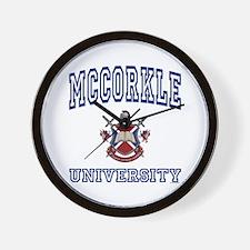 MCCORKLE University Wall Clock