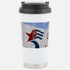 Billboard saying Libertad a la  Travel Mug