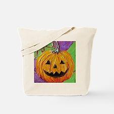 Orange Halloween Jack-O-Lantern Tote Bag