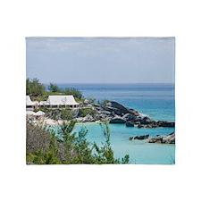 Bermuda. East Whale Bay beach at Fai Throw Blanket