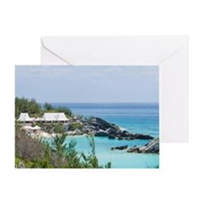 Bermuda. East Whale Bay beach at Fai Greeting Card