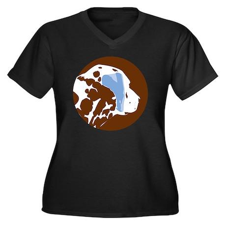 dalmatian_br Women's Plus Size Dark V-Neck T-Shirt