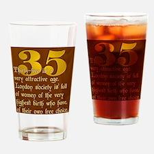 ThirtyFive Drinking Glass