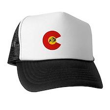 cu buff colorado flag white stripe Trucker Hat
