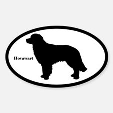 Hovawart Silhouette Oval Decal