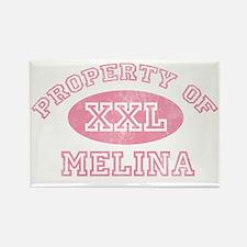 Property-of-Melina Rectangle Magnet