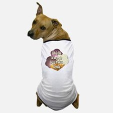 BlkWht-LifeIceCream Dog T-Shirt