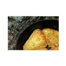 Hash browns cooking on campfire,  Rectangle Magnet