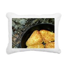 Hash browns cooking on c Rectangular Canvas Pillow