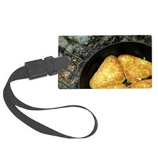 Hash browns cooking on campfire, Luggage Tag