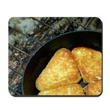 Hash browns cooking on campfire, Central Mousepad