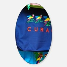 Curacao. Souvenirs in market. Sticker (Oval)