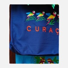 Curacao. Souvenirs in market. Throw Blanket