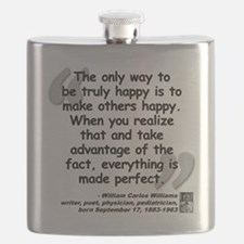 Williams Happy Quote Flask
