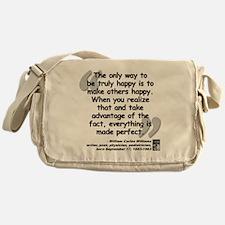 Williams Happy Quote Messenger Bag