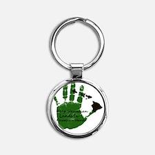 keep hawaiian lands in hands 1 Round Keychain