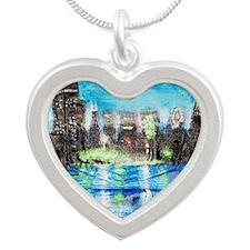 SKYLINE Silver Heart Necklace