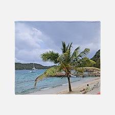 Peter Island British Virgin Islands  Throw Blanket