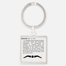 butterfly_2 Square Keychain