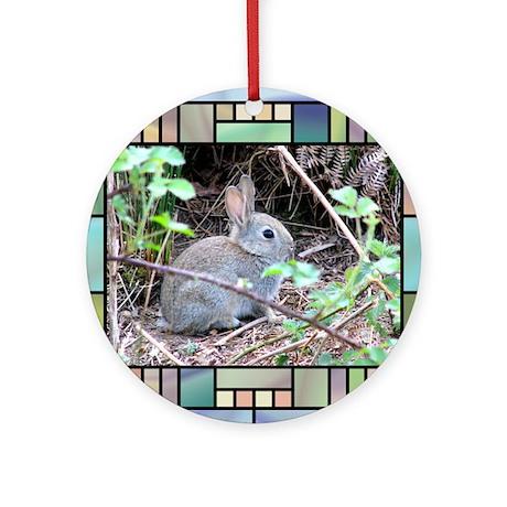Rabbit4 Round Ornament