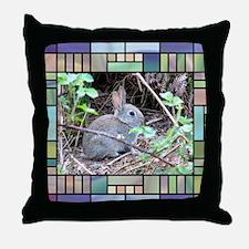 Rabbit4 Throw Pillow