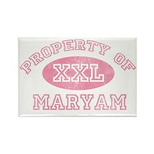 Property-of-Maryam Rectangle Magnet