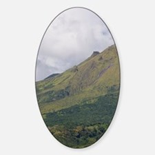 St. Pierre. Montagne Pelee (Mt. Pel Sticker (Oval)