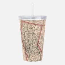 Vintage Map of Norther Acrylic Double-wall Tumbler