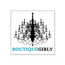"boutique_girly2 Square Sticker 3"" x 3"""