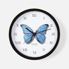 Blue Morpho Wall Clock