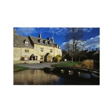 01 Lower Slaughter, the Cotswolds Rectangle Magnet