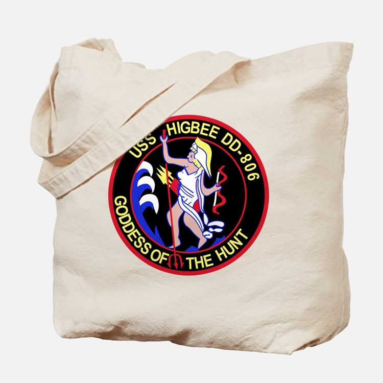 DD-806 USS HIGBEE Destroyer Ship Military Tote Bag