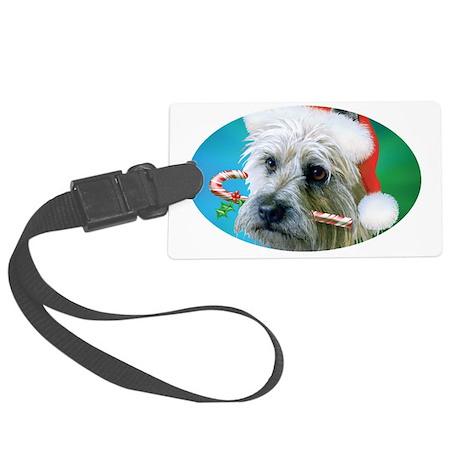 Cairn Terrier Santa-ceramic mug Large Luggage Tag