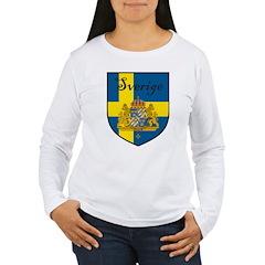 Sverige Flag Crest Shield T-Shirt