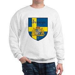 Sverige Flag Crest Shield Sweatshirt
