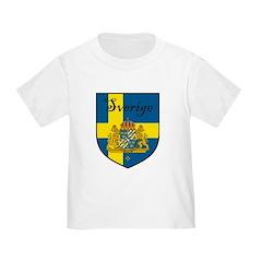 Sverige Flag Crest Shield T