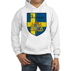 Sverige Flag Crest Shield Hooded Sweatshirt