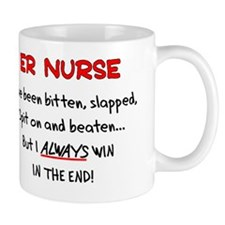 ER Nurse WHITE SHIRTS WIN IN THE END Mug