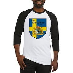 Sverige Flag Crest Shield Baseball Jersey